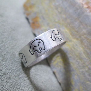 Sterling Silver Ring WISDOM BEAR  Indigenous Art